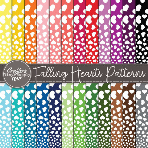 Falling Hearts Patterns