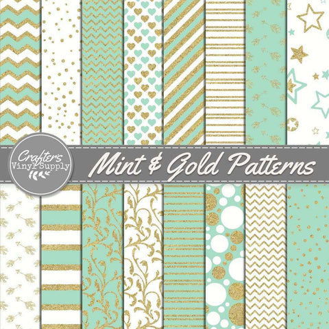 Mint & Gold Patterns