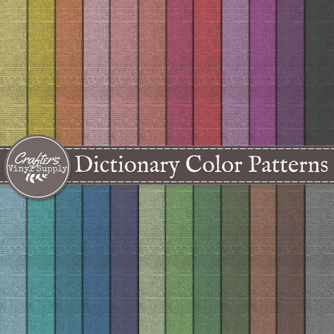 Dictionary Color Patterns