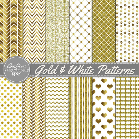 Gold & White Patterns