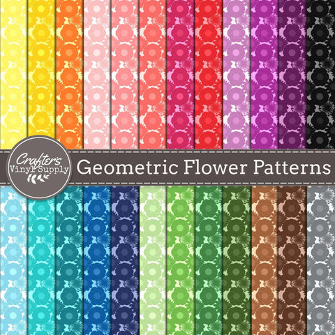 Geometric Flower Patterns