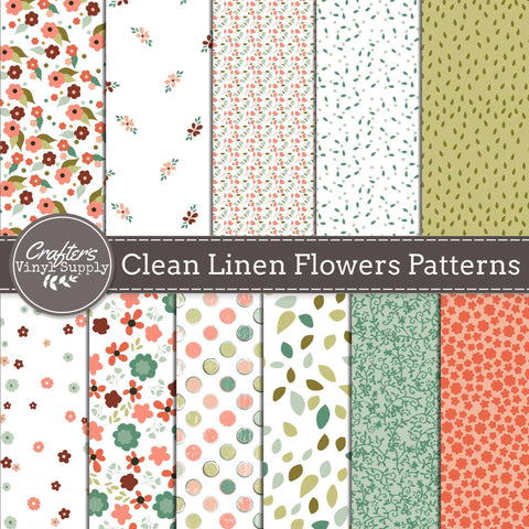 Clean Linen Flowers Patterns