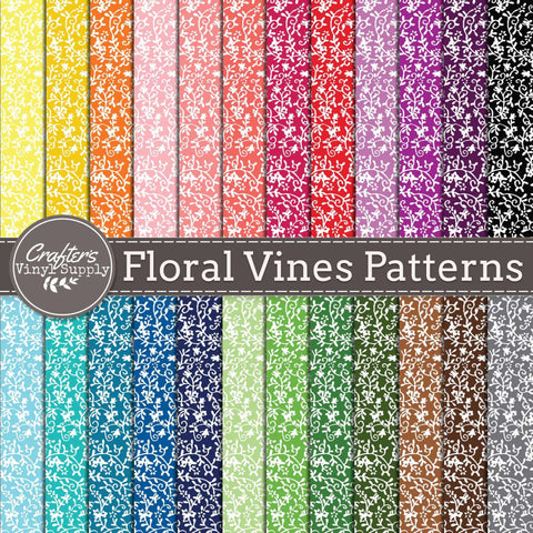 Floral Leafy Vines Patterns