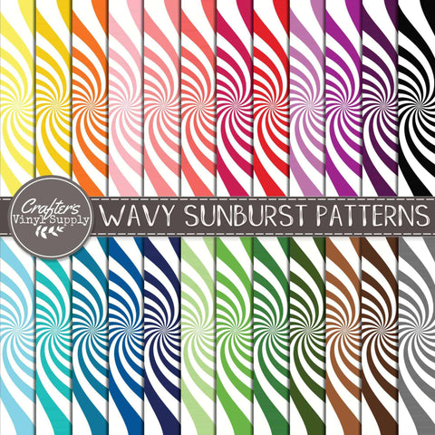 Wavy Sunburst Patterns