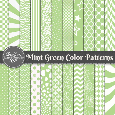 Mint Green Color Patterns