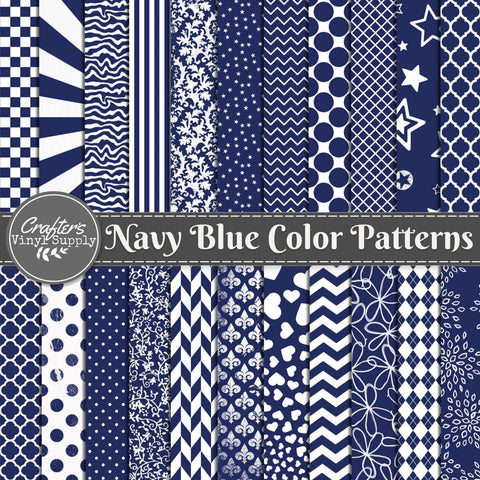 Navy Blue Color Patterns