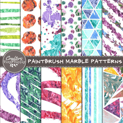 Paintbrush Marble Patterns