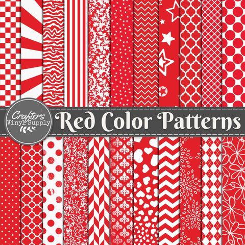 Red Color Patterns