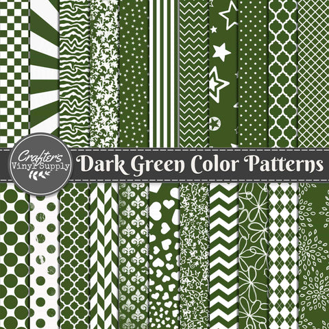 Dark Green Color Patterns