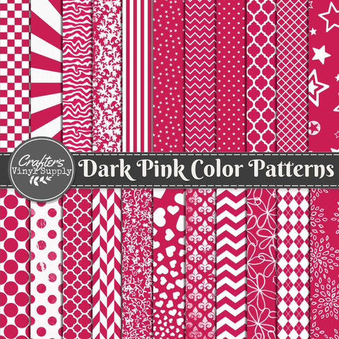 Dark Pink Color Patterns