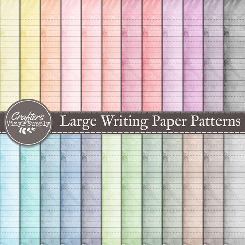 Large Writing Paper Patterns