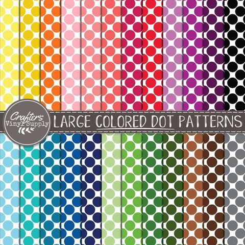 Large Colored Dot Patterns