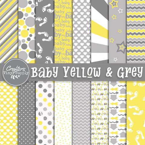 Baby in Yellow & Grey