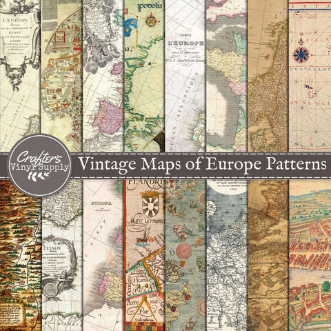 Vintage Maps of Europe Patterns