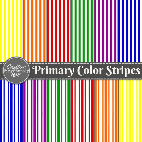 Primary Color Stripes Patterns