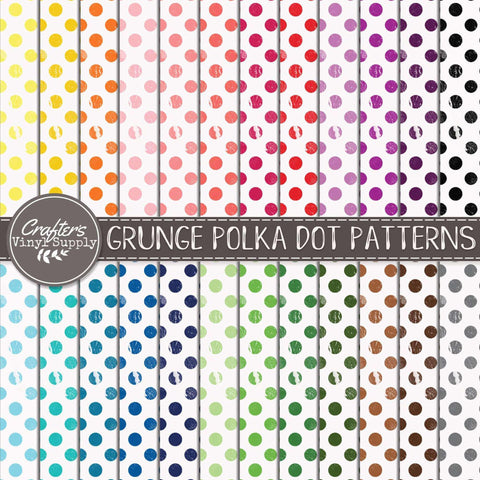 Grunge Polka Dot Patterns