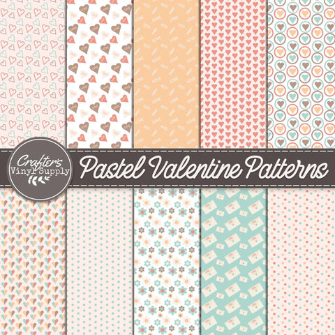 Pastel Valentine Patterns