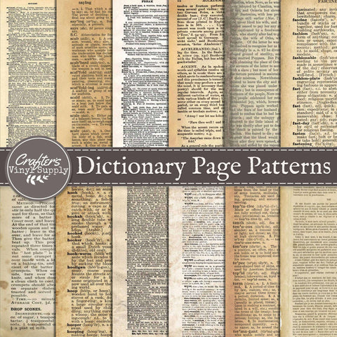 Dictionary Page Patterns