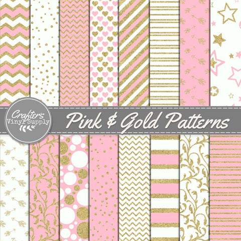 Pink & Gold Patterns