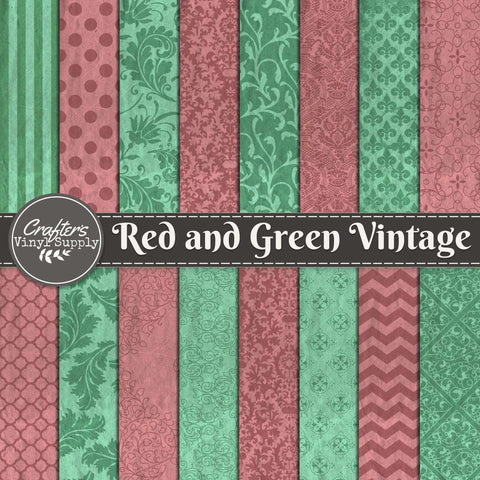 Red and Green Vintage Patterns