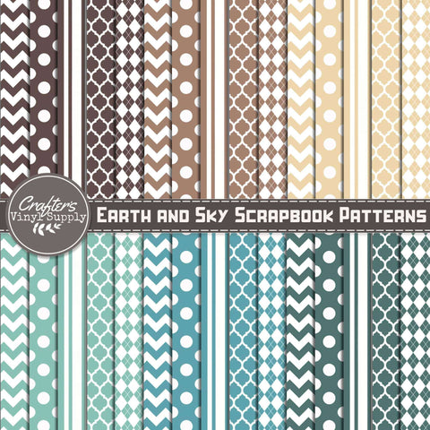 Earth and Sky Scrapbook Patterns