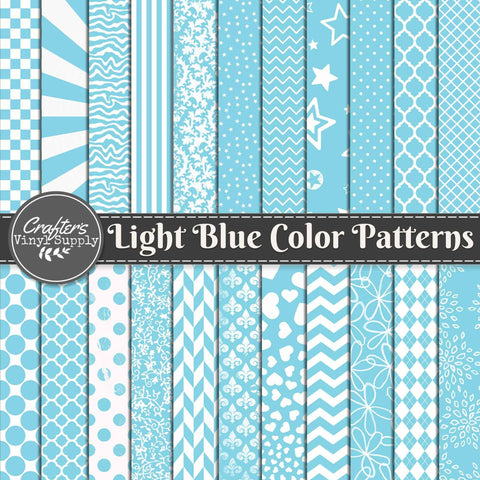 Light Blue Color Patterns