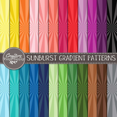 Sunburst Gradient Patterns