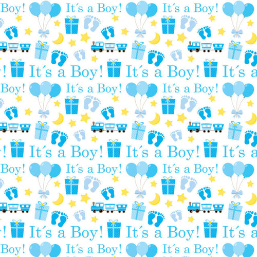 It's A Boy White - Pattern Vinyl and HTV
