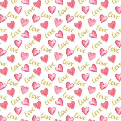 Gold Love Hearts - Pattern Vinyl and HTV