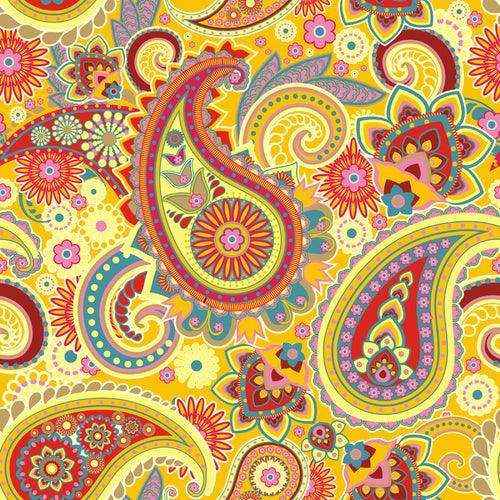 Paisley Yellow - Pattern Vinyl and HTV