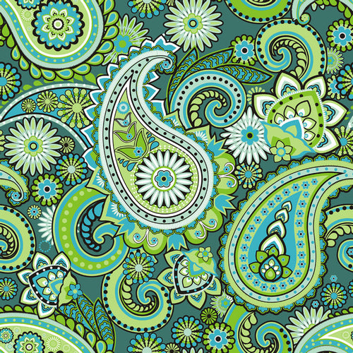 Paisley Green - Pattern Vinyl and HTV