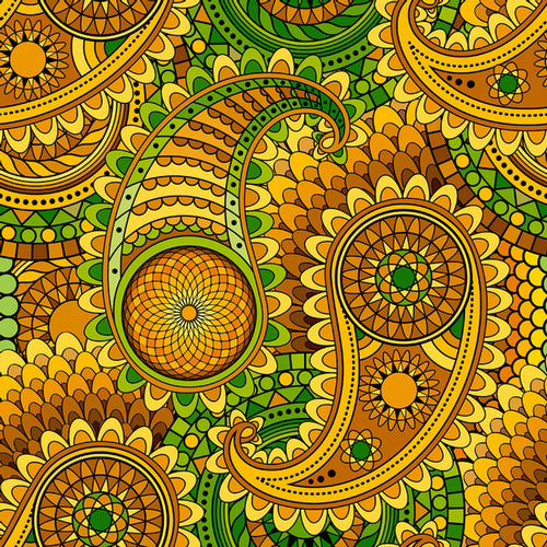 Paisley Amber - Pattern Vinyl and HTV