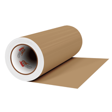 "Load image into Gallery viewer, Crafter's Vinyl Supply Cut Vinyl 12"" x 1 Yard ORACAL® 631 Vinyl - 081 Light Brown - Matte Finish by Crafters Vinyl Supply"