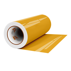 "Crafter's Vinyl Supply Cut Vinyl 12"" x 1 Yard ORACAL® 651 Vinyl - 019 Signal Yellow - Gloss Finish by Crafters Vinyl Supply"