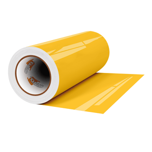 "Crafter's Vinyl Supply Cut Vinyl 12"" x 1 Yard ORACAL® 651 Vinyl - 021 Yellow - Gloss Finish by Crafters Vinyl Supply"