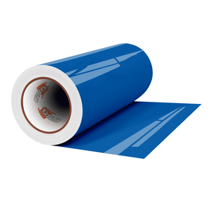 "Crafter's Vinyl Supply Cut Vinyl 12"" x 1 Yard ORACAL® 651 Vinyl - 052 Azure Blue - Gloss Finish by Crafters Vinyl Supply"