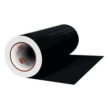"Load image into Gallery viewer, Crafter's Vinyl Supply Cut Vinyl 12"" x 1 Yard ORACAL® 651 Vinyl - 070 Black - Matte Finish by Crafters Vinyl Supply"