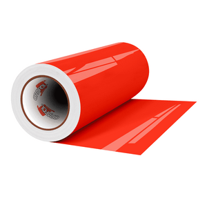 "Crafter's Vinyl Supply Cut Vinyl 12"" x 1 Yard ORACAL® 6510 Vinyl - 038 Red Orange by Crafters Vinyl Supply"