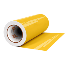 "Load image into Gallery viewer, Crafter's Vinyl Supply Cut Vinyl 12"" x 1 Yard ORACAL® 8300 Vinyl - 021 Yellow by Crafters Vinyl Supply"