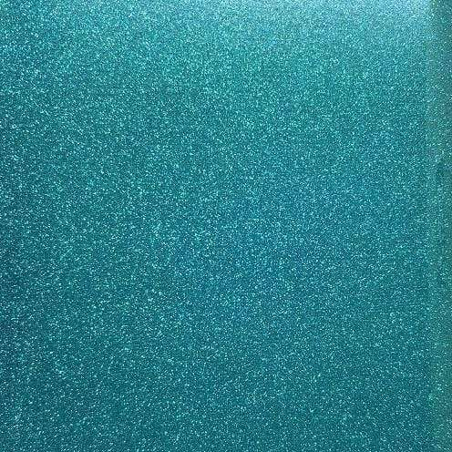 "Crafter's Vinyl Supply Cut Vinyl 20"" x 12"" Siser Glitter Aqua by Crafters Vinyl Supply"