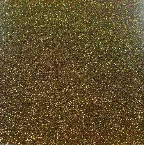 "Crafter's Vinyl Supply Cut Vinyl 20"" x 12"" Siser Glitter Black Gold by Crafters Vinyl Supply"