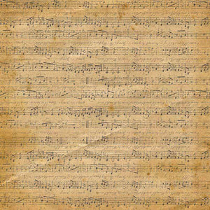 "Crafter's Vinyl Supply Cut Vinyl ORAJET 3651 / 12"" x 12"" Antique Music #4 - Pattern Vinyl and HTV by Crafters Vinyl Supply"