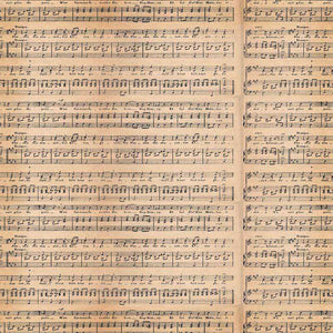 "Crafter's Vinyl Supply Cut Vinyl ORAJET 3651 / 12"" x 12"" Antique Music #5 - Pattern Vinyl and HTV by Crafters Vinyl Supply"