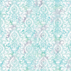 "Crafter's Vinyl Supply Cut Vinyl ORAJET 3651 / 12"" x 12"" Aqua Damask - Pattern Vinyl and HTV by Crafters Vinyl Supply"