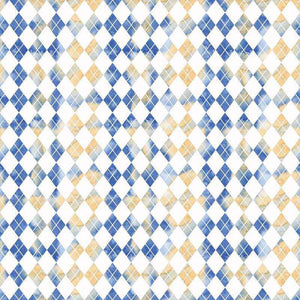 "Crafter's Vinyl Supply Cut Vinyl ORAJET 3651 / 12"" x 12"" Blue Argyle - Pattern Vinyl and HTV by Crafters Vinyl Supply"