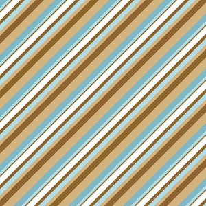 "Crafter's Vinyl Supply Cut Vinyl ORAJET 3651 / 12"" x 12"" Blue & Brown Diagonal Stripes - Pattern Vinyl and HTV by Crafters Vinyl Supply"