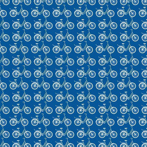 "Crafter's Vinyl Supply Cut Vinyl ORAJET 3651 / 12"" x 12"" Blue Ride A Bike - Pattern Vinyl and HTV by Crafters Vinyl Supply"