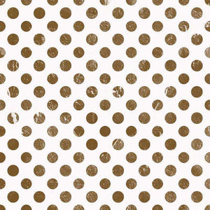 "Crafter's Vinyl Supply Cut Vinyl ORAJET 3651 / 12"" x 12"" Bronze Foil Polka Dots - Pattern Vinyl and HTV by Crafters Vinyl Supply"