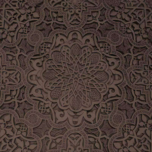 "Crafter's Vinyl Supply Cut Vinyl ORAJET 3651 / 12"" x 12"" Chocolate Brown Old Ceiling - Pattern Vinyl and HTV by Crafters Vinyl Supply"