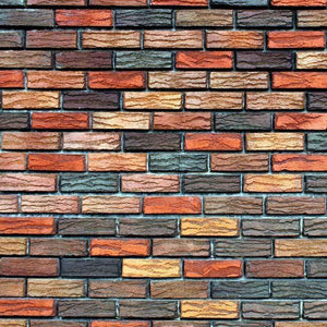 "Crafter's Vinyl Supply Cut Vinyl ORAJET 3651 / 12"" x 12"" Colorful Brick Wall - Pattern Vinyl and HTV by Crafters Vinyl Supply"